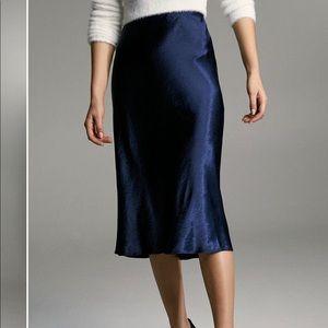 Aritzia Silk Midi Skirt